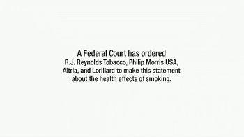 Philip Morris, R.J. Reynolds, Altria & Lorillard TV Spot, 'Health Effects'