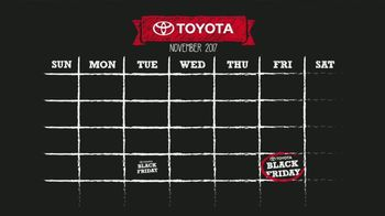 Toyota Black Friday(s) Sales Event TV Spot, 'Calendar' [T2] - Thumbnail 1