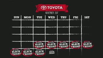 Toyota Black Friday(s) Sales Event TV Spot, 'Calendar' [T2] - Thumbnail 2