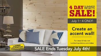 Lumber Liquidators 4 Day Summer Projects Sale TV Spot, 'Simple Projects' - Thumbnail 5