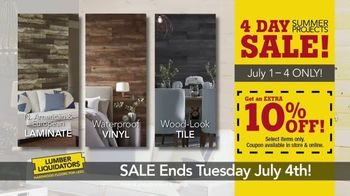 Lumber Liquidators 4 Day Summer Projects Sale TV Spot, 'Simple Projects' - Thumbnail 6
