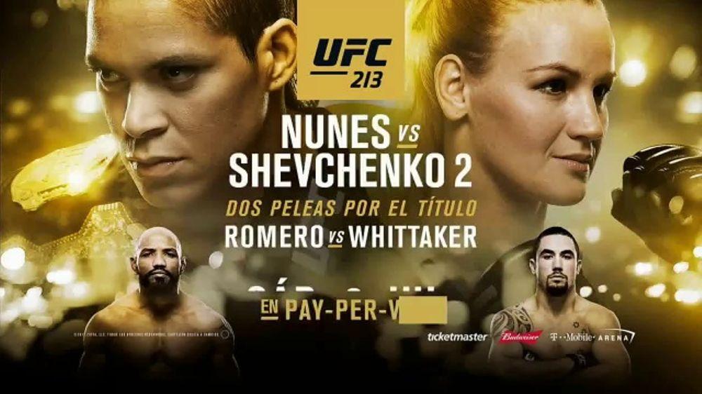 Pay-Per-View TV Commercial, 'UFC 213: Dos peleas por el titulo'
