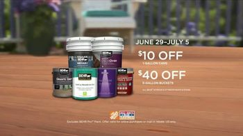 BEHR DeckOver TV Spot, 'Below Average Deck: Red, White and Blue Savings' - Thumbnail 9