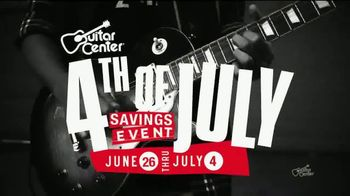 Guitar Center 4th of July Savings Event TV Spot, 'Electric Guitar & String' - Thumbnail 2