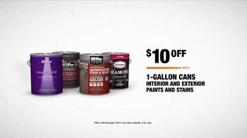 The Home Depot Red, White & Blue Savings TV Spot, 'Paint Projects' - Thumbnail 7