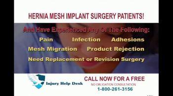 Injury Help Desk TV Spot, 'Hernia Mesh Implant Surgery' - Thumbnail 3