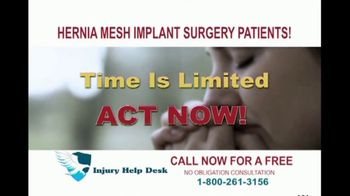 Injury Help Desk TV Spot, 'Hernia Mesh Implant Surgery'