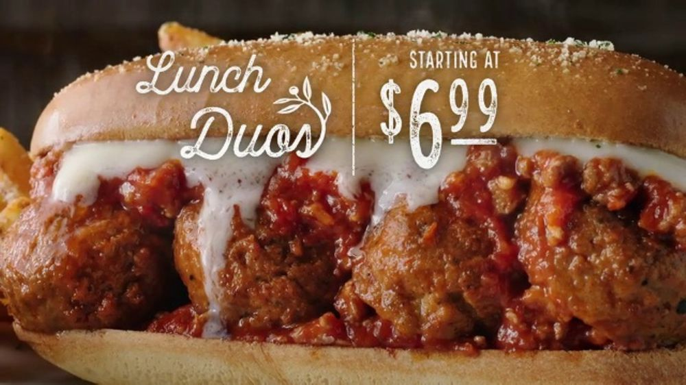 olive garden lunch duos tv commercial never ending value for lunch ispottv - Olive Garden Lunch Duos