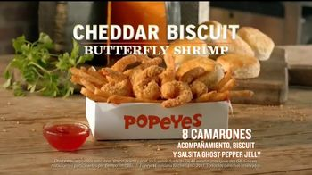 Popeyes Cheddar Biscuit Butterfly Shrimp TV Spot, 'El recorrido' [Spanish] - Thumbnail 8
