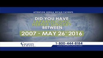 Chaffin Luhana TV Spot, 'Laparoscopic Hernia Surgery'