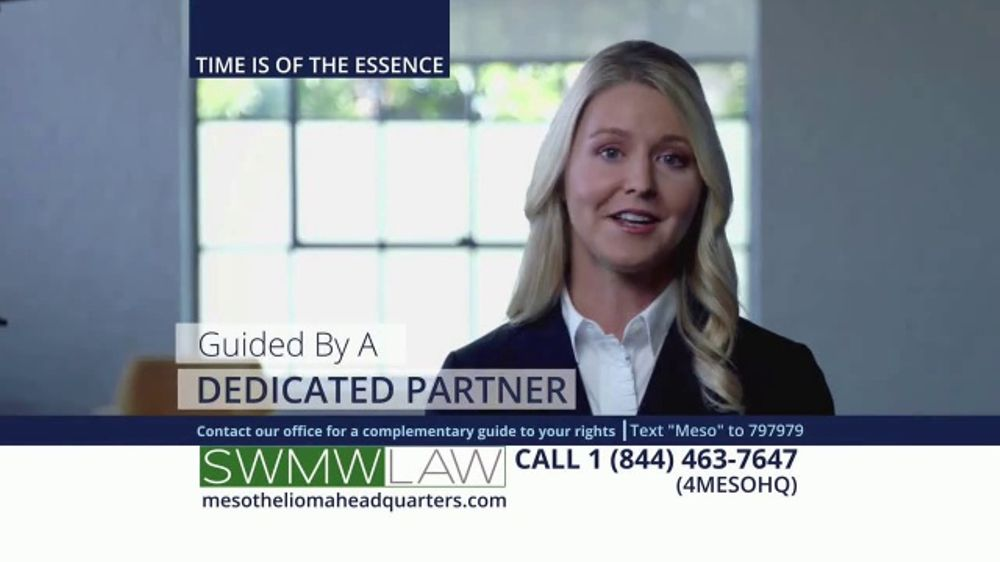 SWMW Law TV Commercial, 'Mesothelioma: Obtain Compensation'