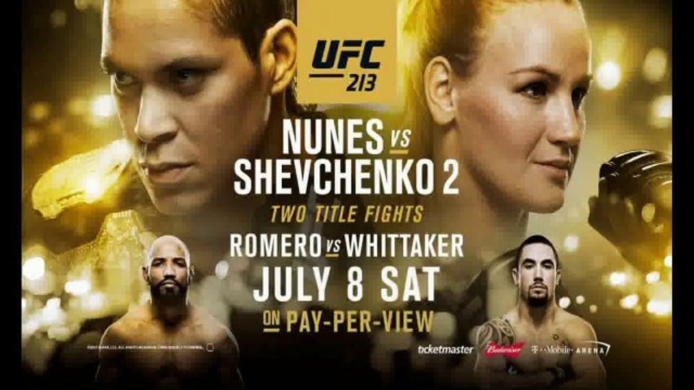 Pay-Per-View TV Commercial, 'UFC 213: Nunes vs. Shevchenko 2 - Stacked'