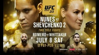Pay-Per-View TV Spot, 'UFC 213: Nunes vs. Shevchenko 2 - Stacked' - 92 commercial airings