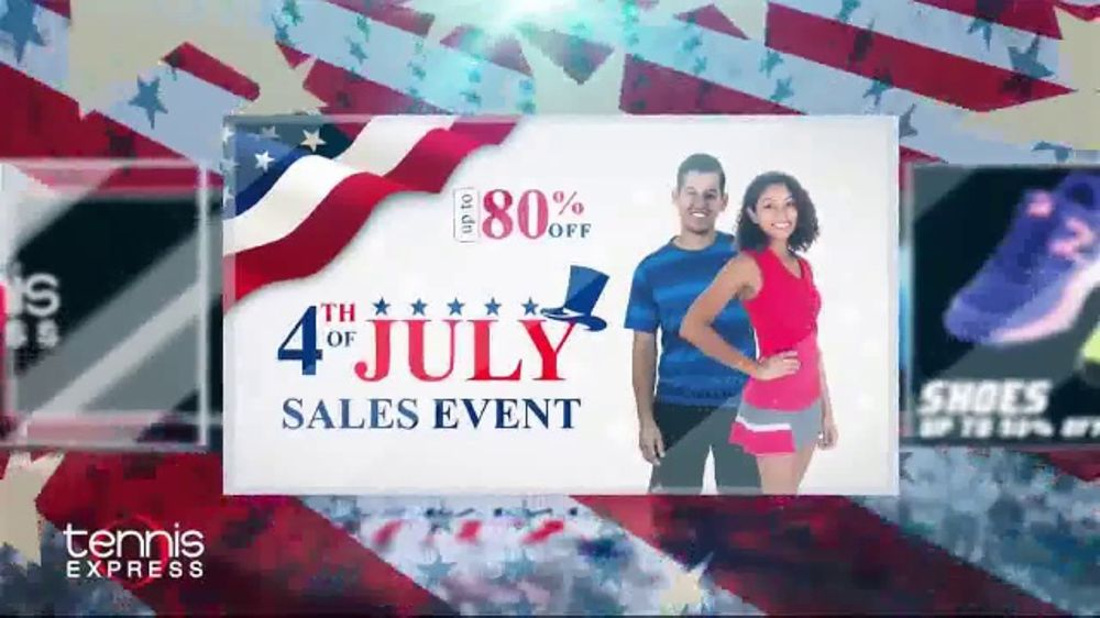 Tennis Express 4th Of July Sales Event Tv Commercial Shoes