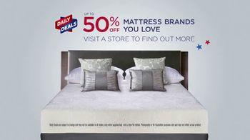Mattress Firm 4th of July Sale TV Spot, 'Daily Deals: Serta Queens' - Thumbnail 1