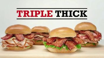 Arby's Triple Thick Brown Sugar Bacon Sandwiches TV Spot, 'Sprinkle Remix' - Thumbnail 3