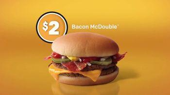 McDonald's $1 $2 $3 Dollar Menu TV Spot, 'Bacon McDouble' - Thumbnail 4