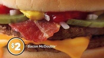 McDonald's $1 $2 $3 Dollar Menu TV Spot, 'Bacon McDouble' - Thumbnail 5