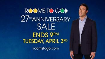 Rooms to Go 27th Anniversary Sale TV Spot, 'Not Much Time Left' - Thumbnail 9