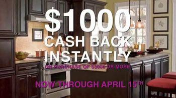 Cabinets To Go TV Spot, 'April Cash Back'