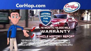 CarHop Auto Sales & Finance TV Spot, 'Vehicle History Report' - Thumbnail 1