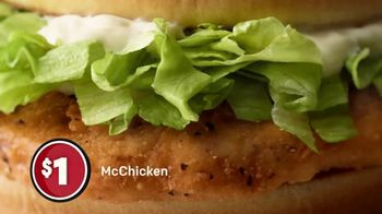 McDonald's $1 $2 $3 Dollar Menu TV Spot, 'A Dollar: McChicken Sandwich' - Thumbnail 5