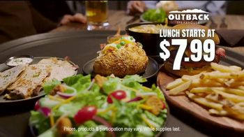 Outback Steakhouse Lunch Combos TV Spot, 'Seasoned, Seared and Delivered' - Thumbnail 8