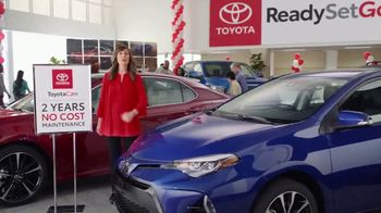 Toyota Ready Set Go! TV Spot, 'No-Cost Maintenance Plan' [T2] - 4 commercial airings