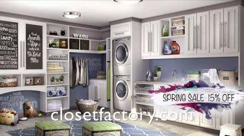 Closet Factory Spring Sale TV Spot, 'Custom Designs: 15 Percent Off' - Thumbnail 2