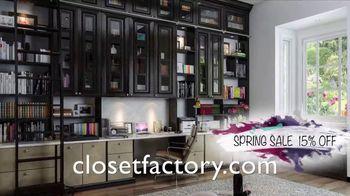 Closet Factory Spring Sale TV Spot, 'Custom Designs: 15 Percent Off' - Thumbnail 4