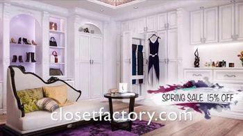 Closet Factory Spring Sale TV Spot, 'Custom Designs: 15 Percent Off' - Thumbnail 5