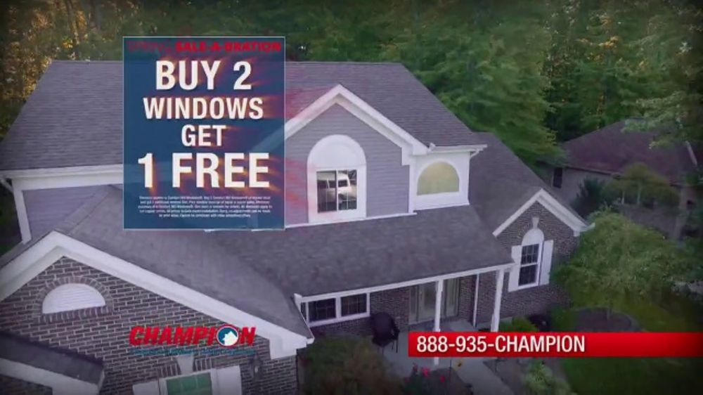 75aaabfbac5a54 Champion Windows Spring Spring Sale-A-Bration TV Commercial