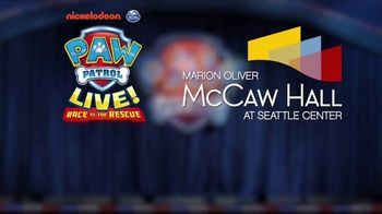 PAW Patrol Live! TV Spot, '2018 Race to the Rescue: McCaw Hall' - Thumbnail 9