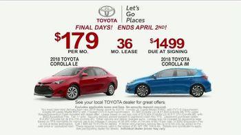 Toyota Ready Set Go! TV Spot, 'Banner: Corolla' [T2] - Thumbnail 6