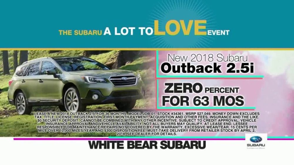 Subaru A Lot To Love Event Tv Commercial Enjoy The Savings Ispot Tv