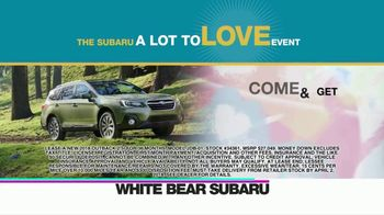 Subaru A Lot to Love Event TV Spot, 'Enjoy the Savings' - Thumbnail 1