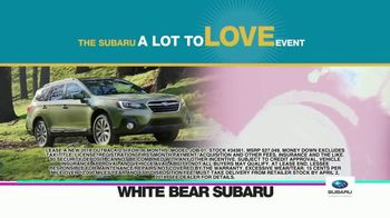 Subaru A Lot to Love Event TV Spot, 'Enjoy the Savings' - Thumbnail 3