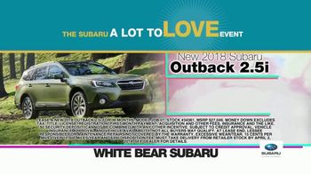 Subaru A Lot to Love Event TV Spot, 'Enjoy the Savings' - Thumbnail 4