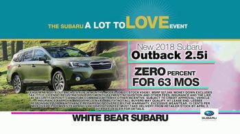 Subaru A Lot to Love Event TV Spot, 'Enjoy the Savings' - Thumbnail 5