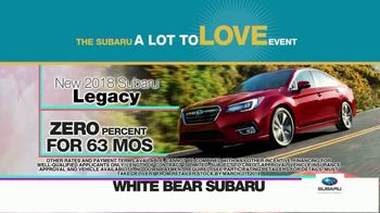 Subaru A Lot to Love Event TV Spot, 'Enjoy the Savings' - Thumbnail 7