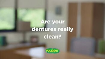 Polident Daily Cleanser TV Spot, 'Are Your Dentures Really Clean?' - Thumbnail 1