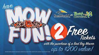Bad Boy Mowers TV Spot, 'EZ-Ride System: SeaWorld Tickets' - Thumbnail 8