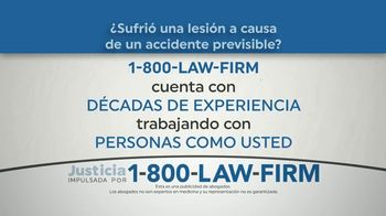 1-800-LAW-FIRM TV Spot, 'Accidente previsible' [Spanish] - Thumbnail 1