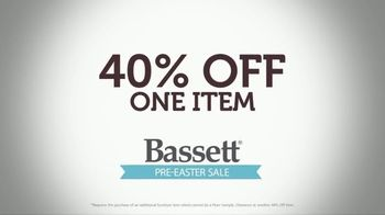 Bassett Pre-Easter Sale TV Spot, '40 Percent Off One Item' - Thumbnail 3