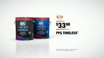 The Home Depot TV Spot, 'The Benchmark: PPG Timeless' - Thumbnail 9