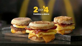 McDonald's 2 for $4 Breakfast Sandwiches TV Spot, 'Delicioso' [Spanish] - Thumbnail 1