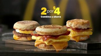 McDonald's 2 for $4 Breakfast Sandwiches TV Spot, 'Delicioso' [Spanish] - Thumbnail 4