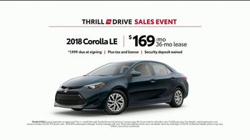 Toyota Thrill to Drive Sales Event TV Spot, 'Food Crawl: 2018 Corolla' [T2] - Thumbnail 8
