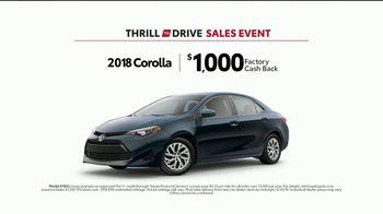 Toyota Thrill to Drive Sales Event TV Spot, 'Food Crawl: 2018 Corolla' [T2] - Thumbnail 9