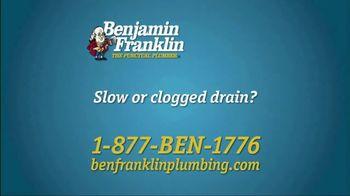 Benjamin Franklin Plumbing TV Spot, 'Slow or Clogged Drain?' - Thumbnail 1